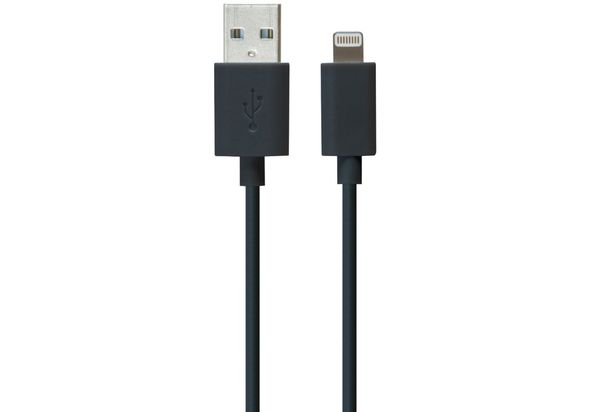 iLuv Apple Lightning Charge & Sync Cable, Black