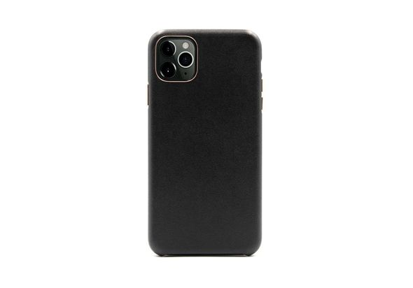 Porodo Classic Leather Back Case For iPhone 11 Pro, Black