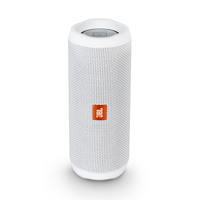 JBL Flip 4 Portable Bluetooth Speakers, White