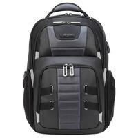 """Targus DrifterTrek 15.6-17.3"""" Laptop Backpack with USB Power Pass-Thru, Black"""