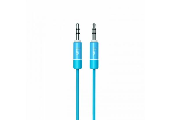 iLuv Premium Aux-In Audio Cable, Blue