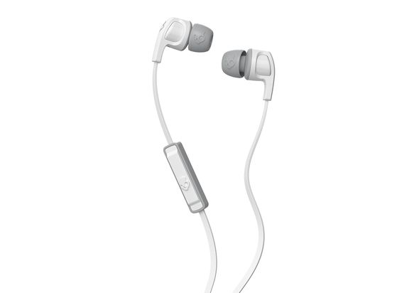 Skullcandy Smokin Buds 2 In-ear Headphones with Mic, White/Gray