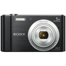 Sony Cyber-shot DSC-W800 Digital Camera, Black