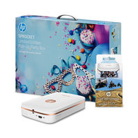 HP Sprocket Photo Printer Bundle, White