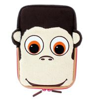 "TabZoo Animal Character Sleeve with Zip for 8"" Tablets, Monkey"