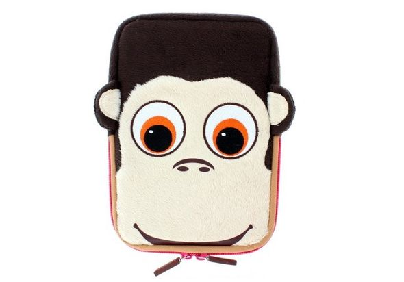 TabZoo Animal Character Sleeve with Zip for 8  Tablets, Monkey