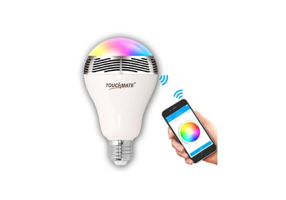 Touchmate Smart Speaker With Colorful Smart LED Bulb.