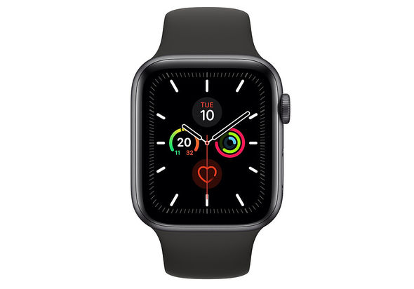 Apple Watch Series 5 44mm Space Gray Aluminum Case with Sport Band, GPS