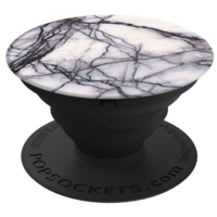 PopSockets Finger Grip, White Marble