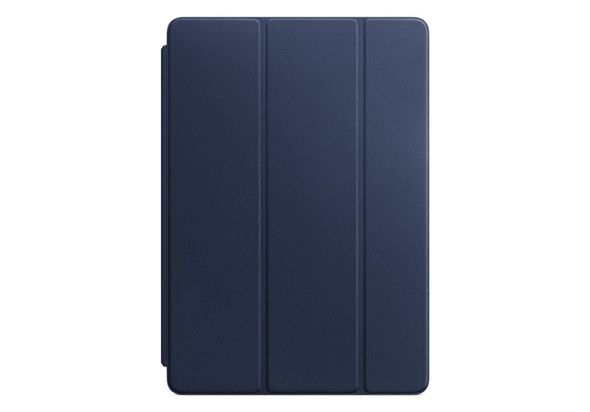Apple Leather Smart Cover for 10.5  iPad Pro, Midnight Blue