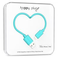 Happy Plugs lightning charge/sync cable, Turquoise
