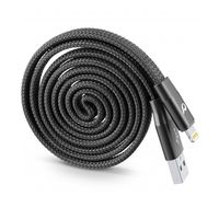 Cellularline Cavo USB Riavvolgibile MFI Cable, Black