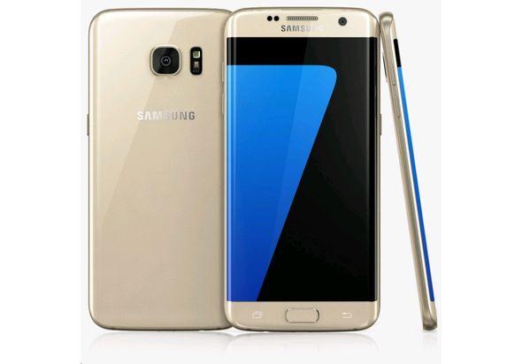Samsung Galaxy S7 Edge Smartphone, 32 GB, Gold Platinum