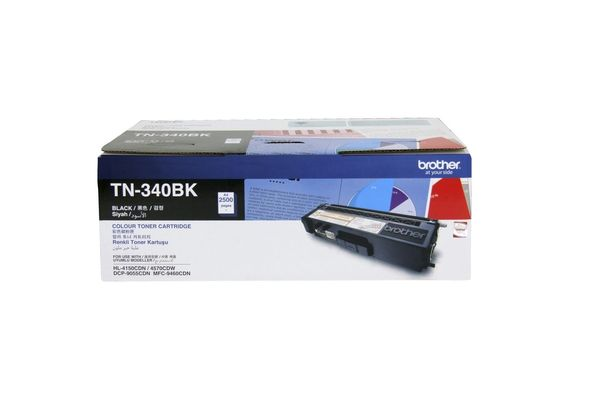Brother TN 340BK Black Toner Cartridge
