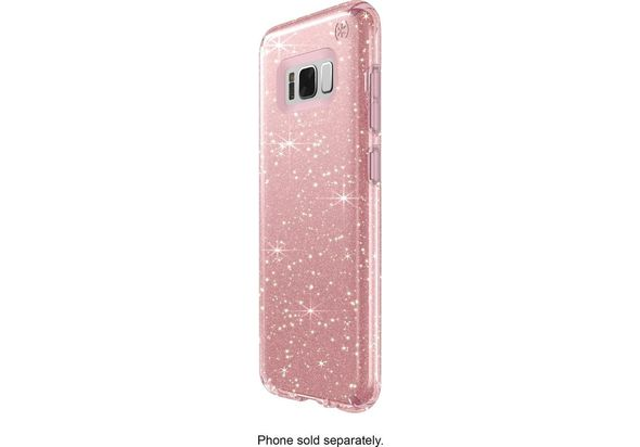 Speck Presidio Case for Samsung Galaxy S8, Clear/Gold/Rose Pink