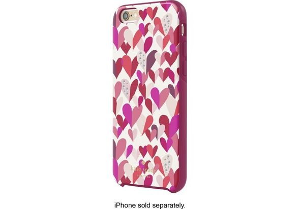 Kate Spade New York Hybrid Hard Shell Case for Apple iPhone 6 and 6s Confetti Hearts Multi Crystal Stones