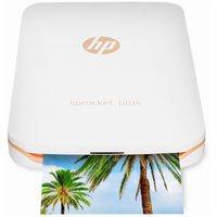 HP Sprocket Plus Photo Printer, White
