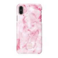 Happy Plugs iPhone X Slim Case, Pink Marble