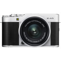 Fujifilm X-A5 Mirrorless Digital Camera with 15-45mm Lens, Silver