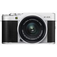 Fujifilm X-A5 Mirrorless Digital Camera with 15-45mm Lens, Silver