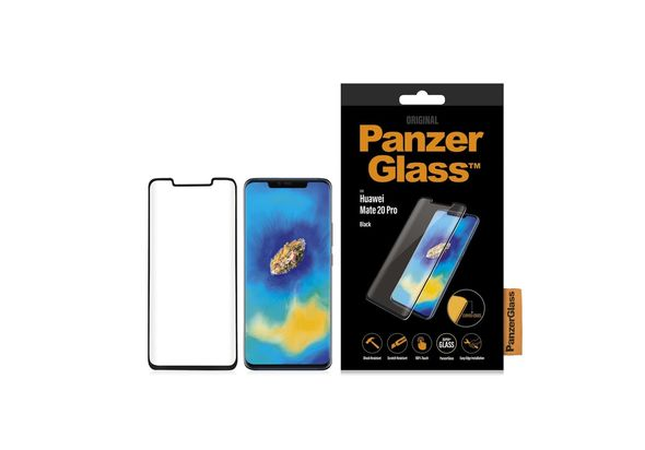 PanzerGlass Huawei Mate 20 Pro Black, Curved Edges Case Friendly