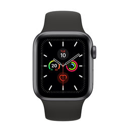 Apple Watch Series 5 40mm Space Gray Aluminum Case with Sport Band, GPS