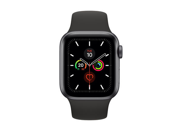 Apple Watch Series 5 40mm Space Grey Aluminium Case with Black Sport Band, GPS+ Cellular