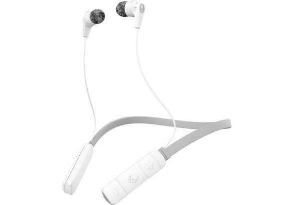 Skullcandy INK D WIRELESS In-Ear Wireless Headphones, Gray/White