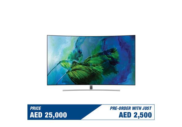 Pre Order Samsung 65  QA65Q8CAM Curved 4K Smart QLED Television