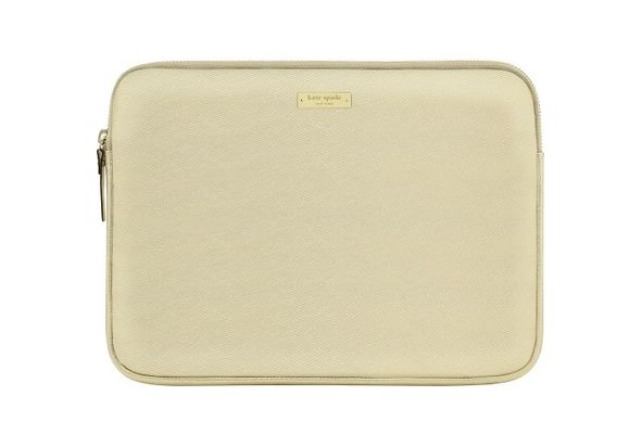 Kate Spade New York Saffiano Laptop Sleeve, Metallic Gold