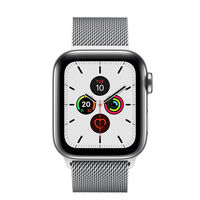 Apple Watch Series 5 44mm Stainless Steel Case with Milanese Loop, GPS+ Cellular