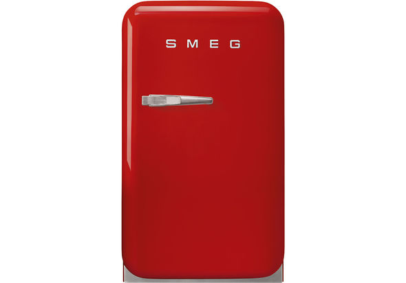 Smeg FAB5RRD Single Door Refrigerator, 33 L, Red