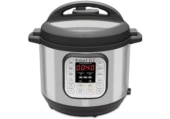 Instant Pot Electric Pressure Cooker 6L, Black / Chrome