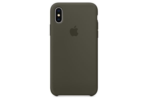 Apple iPhone X Silicone Case, Dark Olive