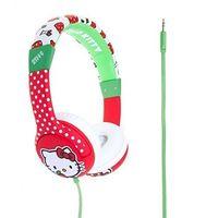 Hello Kitty HK0351 Kitty Apples Headphones for Children, Red