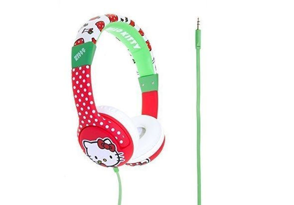 Hello Kitty HK0351 Kitty Apples Headphones for Children, Red