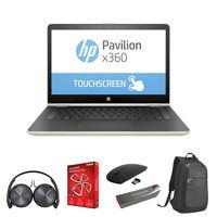 "HP Pavilion x360 14-BA004NE i5 8GB, 128GB 14"" Laptop, Gold"