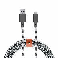 Native Union Belt Cable XL USB-C to USB-A, Zebra
