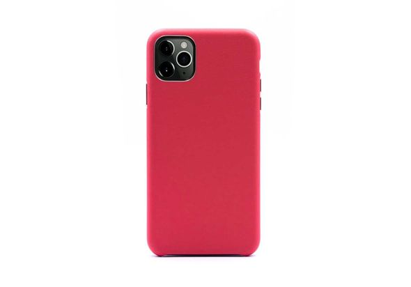 Porodo Classic Leather Back Case For iPhone 11 Pro Max, Red