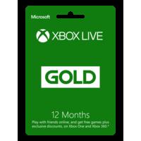 Mcirosoft Xbox Gold 12mo R17