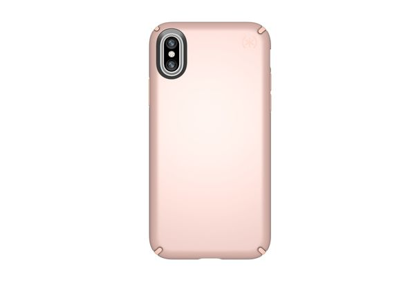 Speck Presidio Metallic Case for iPhone X, Rose Gold Metallic/Dahlia Peach