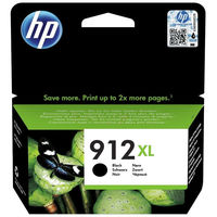 HP 912XL High Yield Ink Cartridge,  Black