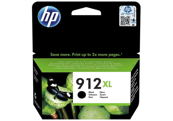 HP 912XL High Yield Ink Cartridge,  Black
