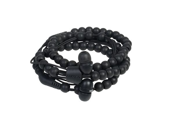 Wraps Natural Wearable Earphones, Black