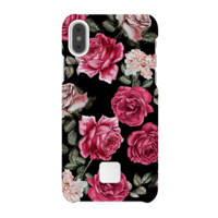 Happy Plugs Protective Case for iPhone X, Vintage Roses