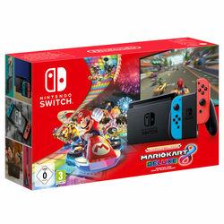 Nintendo Switch Neon V2 with Mario Kart 8 Bundle