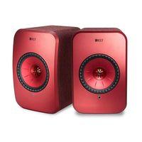 KEF LSX Wireless Mini Monitor Speakers,  Red