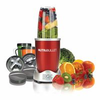 NutriBullet 12-Piece High-Speed Blender/Mixer System 600 Watts, Red