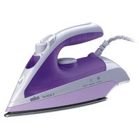 Braun 1700 Watts TexStyle 3 Steam Iron, White/Purple - TS 320