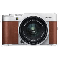 Fujifilm X-A5 Mirrorless Digital Camera with 15-45mm Lens, Brown